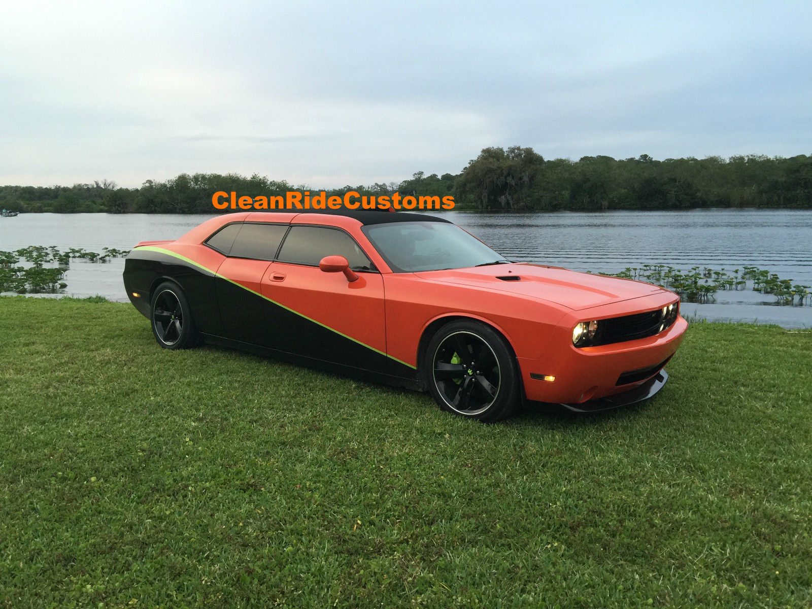 four door dodge challenger srt8 has rear gullwing doors for sale at 250k pics. Black Bedroom Furniture Sets. Home Design Ideas